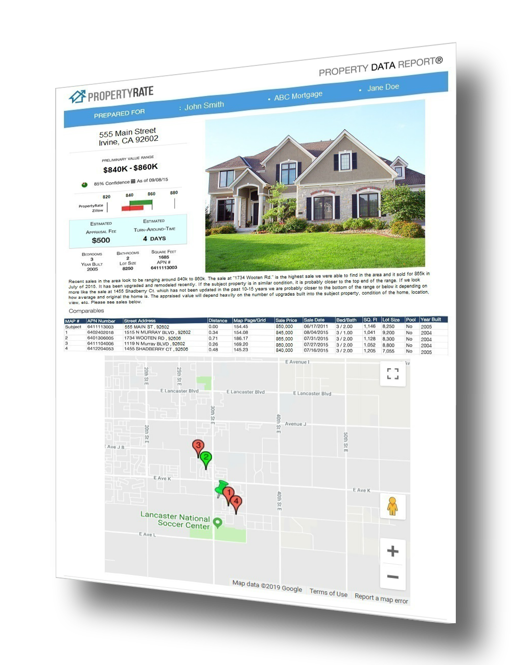 PropertyRate Data Report